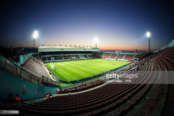 General view of the Huseyin Avni Aker Stadium prior to the FIFA U-20 World Cup Group C match between Turkey and El Salvador at Huseyin Avni Aker...