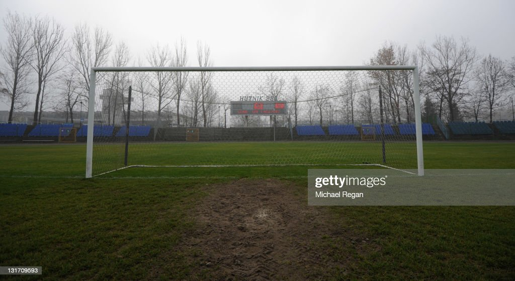 A general view of the Hutnik Municipality Stadium where the England football team will train during the Euro 2012 on November 7, 2011 in Krakow, Poland.