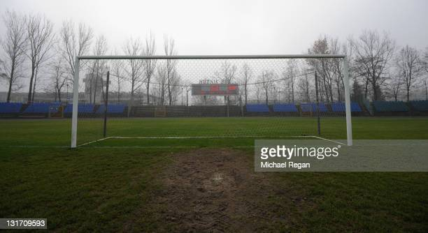 A general view of the Hutnik Municipality Stadium where the England football team will train during the Euro 2012 on November 7 2011 in Krakow Poland