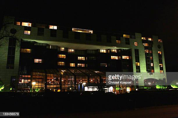 General view of the Hyatt Hotel on November 19 2011 in Cologne Germany The Bundesliga match beween 1 FC Koeln and Mainz 05 that Rafati was due to...