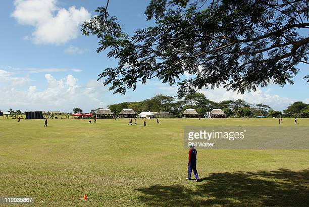 A general view of the ICC East Asia Pacific Division 2 tournament held at the Garden Ovals on April 07 2011 in Apia Samoa