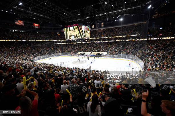 General view of the ice during Game One of the Stanley Cup Semifinals between the Vegas Golden Knights and the Montreal Canadiens at T-Mobile Arena...