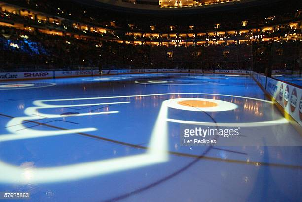 A general view of the ice prior to the start of game four of the Eastern Conference Quarterfinals between the Philadelphia Flyers and the Buffalo...