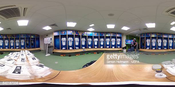 A general view of the Iceland dressing room prior to the UEFA EURO 2016 Group F match between Portugal and Iceland at Stade GeoffroyGuichard on June...