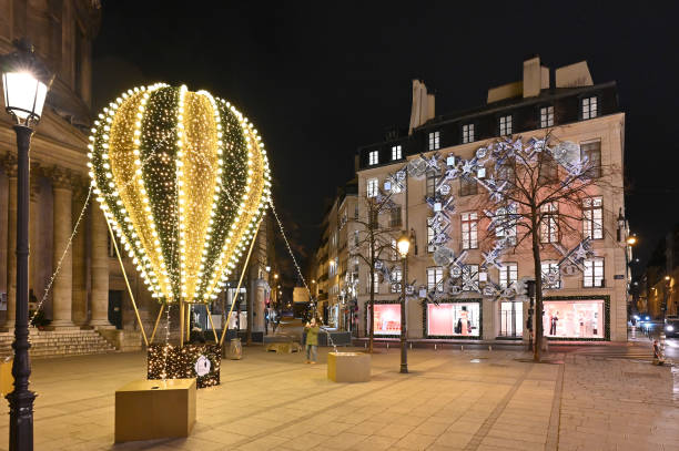 FRA: Christmas Lights And Decorations Are Displayed At The Chanel Boutiques In Paris