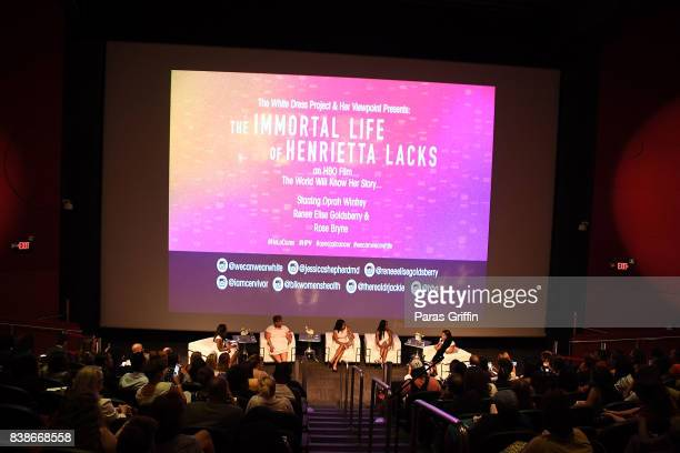 A general view of 'The Immortal Life Of Henrietta Lacks' Viewing Panel Discussion with Renee Elise Goldsberry Dr Jessica Shepherd Dr Jackie Walters...