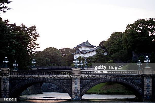 A general view of the Imperial Palace and Nijubashi on August 31 2013 in Tokyo Japan The Palace is the residence of Japan's Imperial Family and...