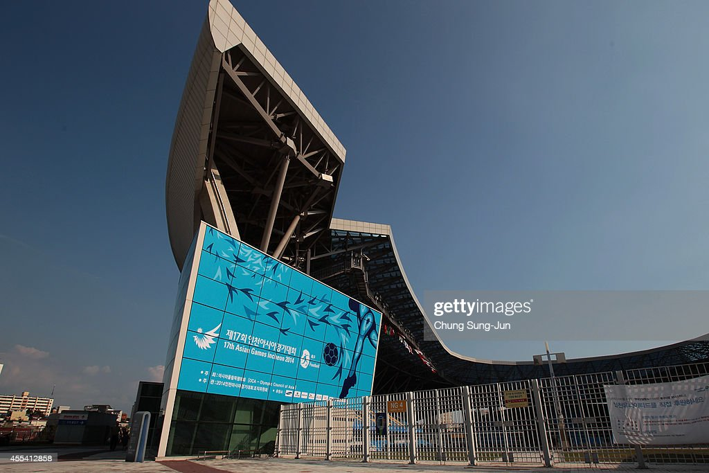 A general view of the Incheon Football Stadium during day -5 of the 17th Asian Games on September 14, 2014 in Incheon, South Korea.