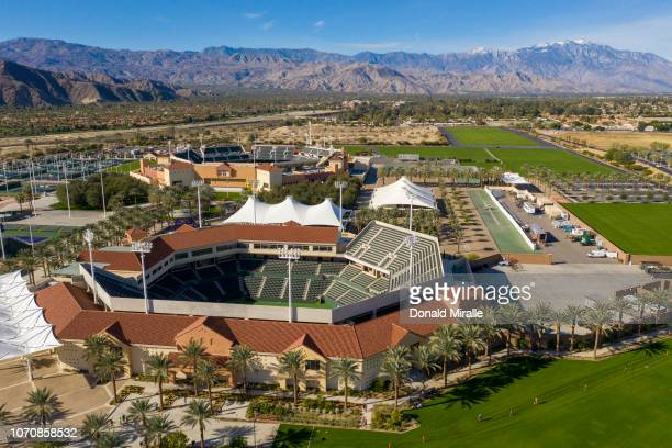 General view of the Indian Wells Tennis Center on the triathlon course during the IRONMAN 703 Indian Wells La Quinta on December 9 2018 in Indian...