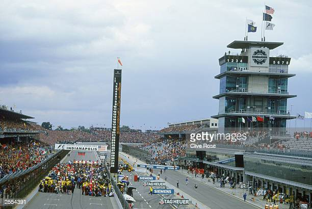 General view of the Indianapolis Motor Speedway taken during the United States Formula One Grand Prix held on September 28, 2003 at the Indianapolis...