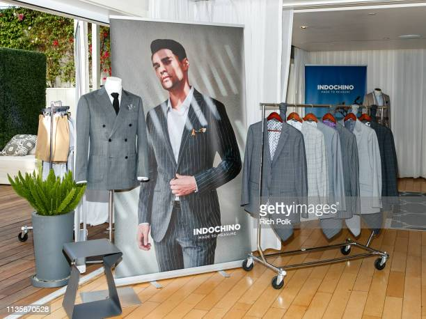A general view of the Indochino Los Angeles Spring/Summer '19 Launch Party at SkyBar at the Mondrian Los Angeles on March 13 2019 in West Hollywood...
