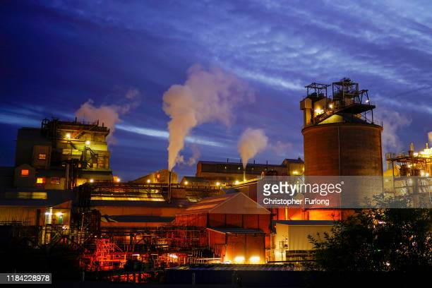 A general view of the Ineos Brine Processing Plant on October 28 2019 in Northwich England The site which employs 70 workers processes around 30...