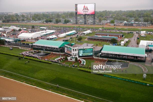 General view of the infield during the 144th running of the Kentucky Derby at Churchill Downs on May 5th, 2018 in Louisville, Kentucky.