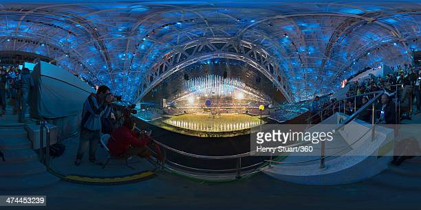A general view of the inside of Fisht Stadium during the 2014 Sochi Winter Olympics Closing Ceremony at Fisht Olympic Stadium on February 23 2014 in...