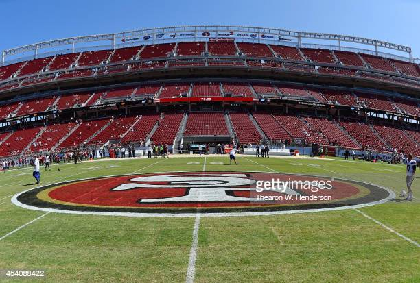 General view of the inside of Levi's Stadium prior to an NFL football game between the San Diego Chargers and San Francisco 49ers on August 24, 2014...