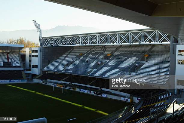 A general view of the inside of the Afonso Henriques Stadium Guimaraes Portugal One of the venues for the European Championships in 2004