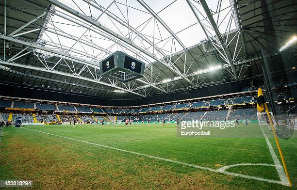 A general view of the inside of the Friends Arena before the Swedish Allsvenskan League match between AIK and Gefle IF at the Friends Arena on August...