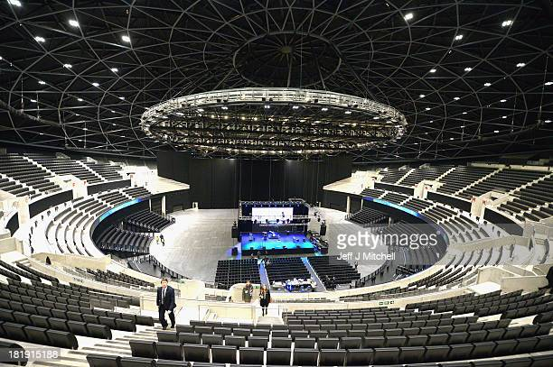 A general view of the inside of the SSE Hydro on September 26 2013 in Glasgow Scotland Designed by architects Foster and Partners the Hydro has a...