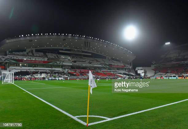 General view of the inside of the stadium during the AFC Asian Cup quarter final match between China and Iran at Mohammed Bin Zayed Stadium on...