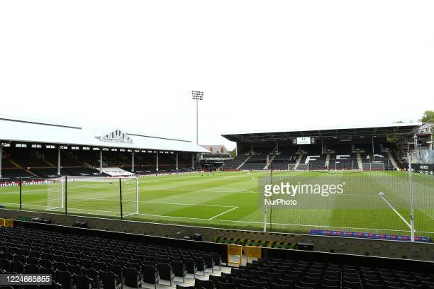 General view of the inside of the stadium during the Sky Bet Championship match between Fulham and Birmingham City at Craven Cottage, London on...