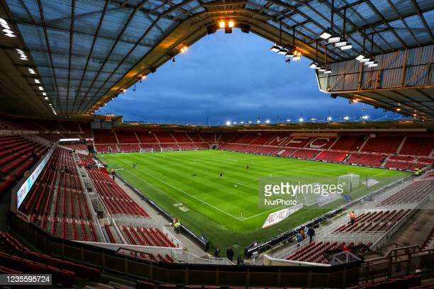 General view of the inside of the stadium during the Sky Bet Championship match between Middlesbrough and Sheffield United at the Riverside Stadium,...