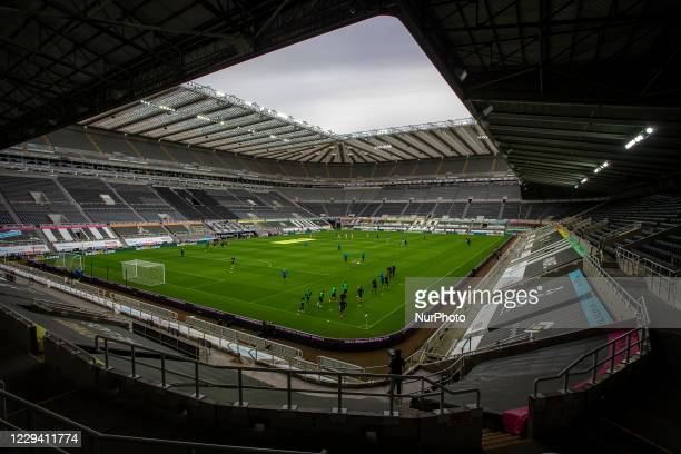 General view of the inside St James' Park during the Premier League match between Newcastle United and Everton at St. James's Park, Newcastle on...