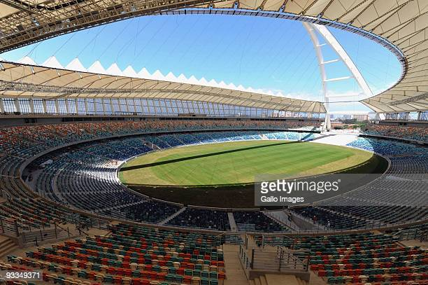 General view of the inspectors in Moses Mabhida during Fifa inspection on September 27, 2009 in Durban, South Africa.