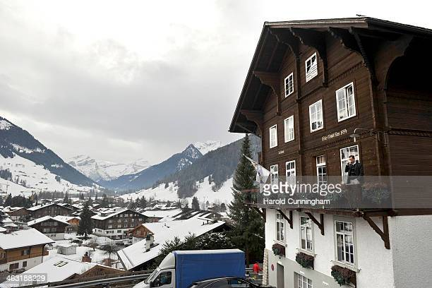 General view of the Institut Le Rosey Gstaad winter campus on January 16, 2014 in Gstaad, Switzerland.