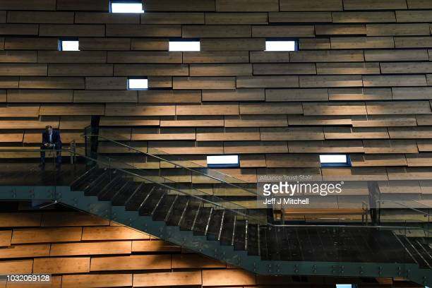 A general view of the interior during the press preview of the new VA museum of Design by Japanese architect Kengo Kuma on September 12 2018 in...