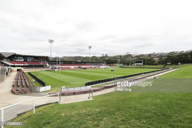 General view of the interior of Brookvale Oval, currently known as Lottoland on September 10, 2019 in Sydney, Australia. Lottoland is scheduled to...