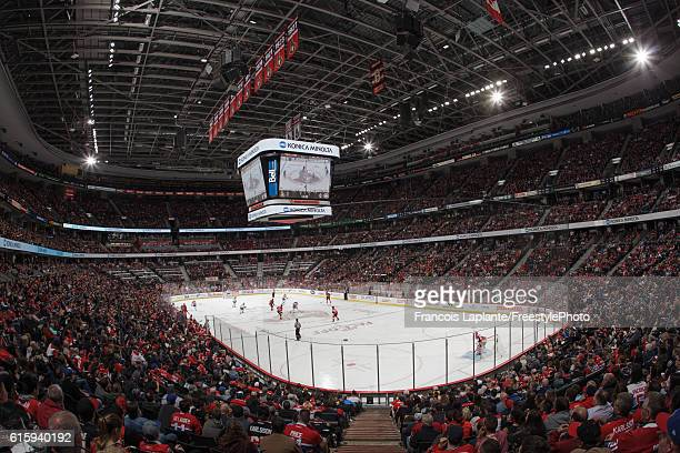 A general view of the interior of Canadian Tire Centre during a game opposing the Ottawa Senators and the Montreal Canadiens on October 15 2016 in...