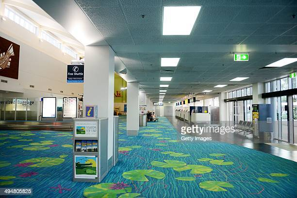 A general view of the interior of Darwin airport on May 31 2014 in Darwin Australia Flights in and out of Darwin have been suspended as volcanic ash...