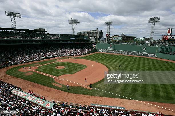 General view of the interior of Fenway Park during a game between the Texas Rangers and the Boston Red Sox on June 11, 2006 at Fenway Park in Boston,...