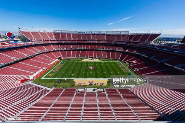 General view of the interior of Levis Stadium from an elevated level during the NFL regular season football game between the Cleveland Browns and the...