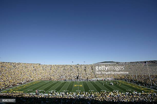 A general view of the interior of Michigan Stadium during a game between the Michigan Wolverines and the Penn State Nittany Lions on September 22...