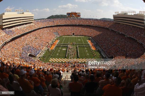 General view of the interior of Neyland Stadium before the game between the Florida Gators and the Tennessee Volunteers on September 20 2008 in...