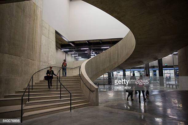 A general view of the interior of Tate Modern's new Switch House on June 14 2016 in London England The Tate Modern art gallery unveils its new Switch...