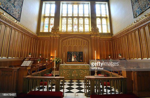 General view of the interior of the Chapel Royal at St James's Palace, where Prince George of Cambridge will be christened, October 17, 2013 in...