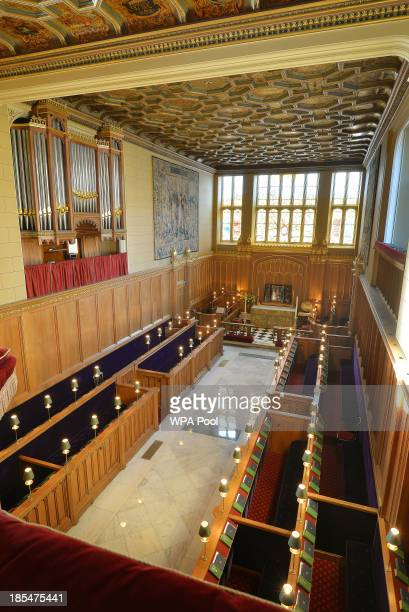 A general view of the interior of the Chapel Royal at St James's Palace where Prince George of Cambridge will be christened October 17 2013 in London...