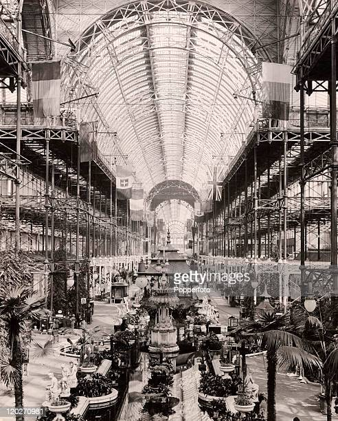 A general view of the interior of the Crystal Palace London during the Great Exhibition of 1851
