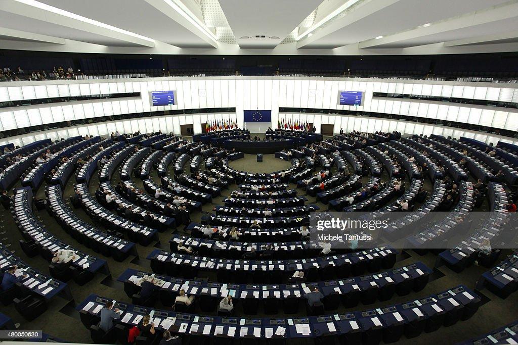 Tsipras Speaks At EU Parliament : News Photo