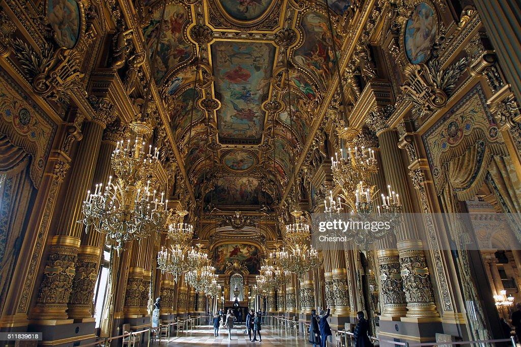 General view of the interior of the Opera Garnier on February 23, 2016 in Paris, France. The famous American billionaire Christopher Forbes and vice chairman of Forbes decided to disperse his collection of souvenirs from the Second Empire. Christopher Forbes collection consists of over 2,000 art objects, paintings, sculptures, manuscripts, photographs and other historical souvenirs and the Wedding Certificate of Emperor Napoleon I and Empress Josephine (1804), all for a total value estimated between 3 and 4 million euros. This world's largest unique private collection will be auctioned on 5 and 6 March 2016 in Fontainebleau (Seine-et-Marne).