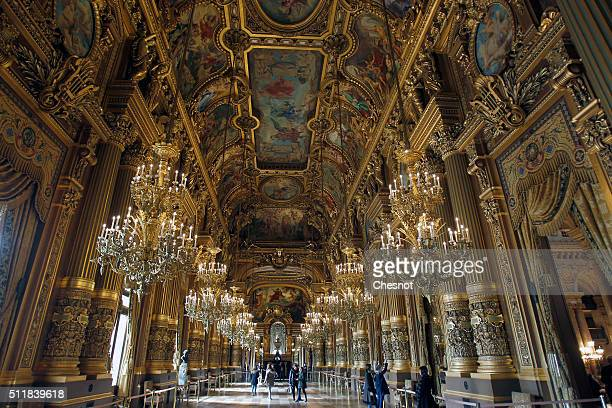 General view of the interior of the Opera Garnier on February 23 2016 in Paris France The famous American billionaire Christopher Forbes and vice...