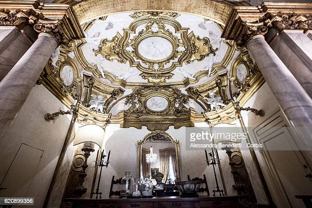 A general view of the interior of the Palazzo Spini Feroni headquarters to the Ferragamo Luxury Brand on July 18 2016 in Florence Italy The Palazzo...