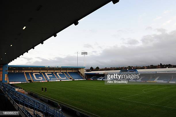 A general view of the interior of The Priestfield Stadium after the Sky Bet League One match between Gillingham and Preston North End at The...