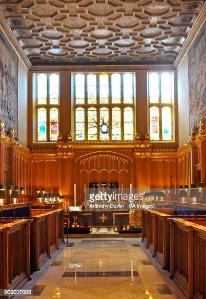 General view of the interior of the Royal Chapel in St James' Palace, London. The Chapel formed part of Henry VIII's palace and bears the date 1540....