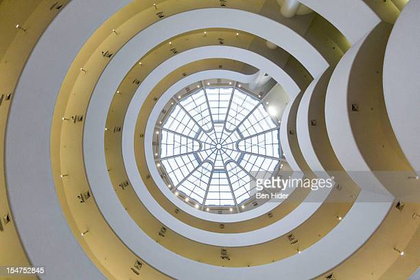 General view of the interior of the Solomon R. Guggenheim Museum designed by Frank Lloyd Wright on October 18, 2012 in New York City.