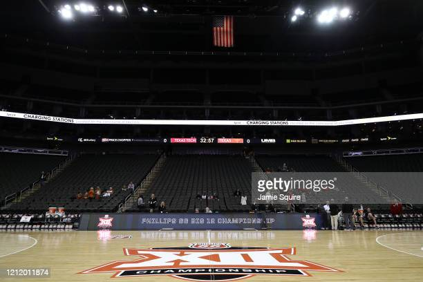 A general view of the interior of the Sprint Center as no fans will be allowed inside the remainder of the Big 12 tournament games at the Sprint...