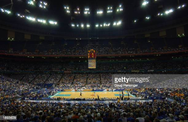 A general view of the interior of the Superdome as the University of Kentucky Wildcats as the Wildcats defeated the Vanderbilt University Commodores...