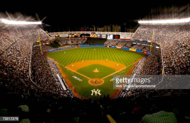 A general view of the interior of Yankee Stadium at night during Game 1 of the American League Divisional Series on October 3 2006 at Yankee Stadium...